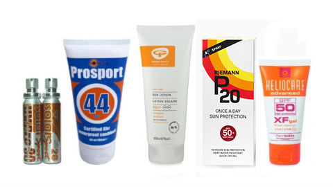 Suncream for cyclists